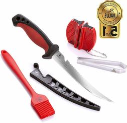 6.5 inch Fillet Knife Kit 5 in 1 Multifunctional Stainless S