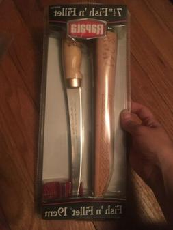 """Rapala BPFNF7SH1 Fixed 7-1/2"""" Fish 'N Fillet Knife + Leather"""