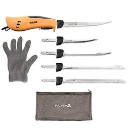 Electric Fillet Knife Fish Fishing Cleaning Kit American Ang