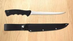 Rada R200 Fillet Knife w/ leather scabbard - Made in the USA